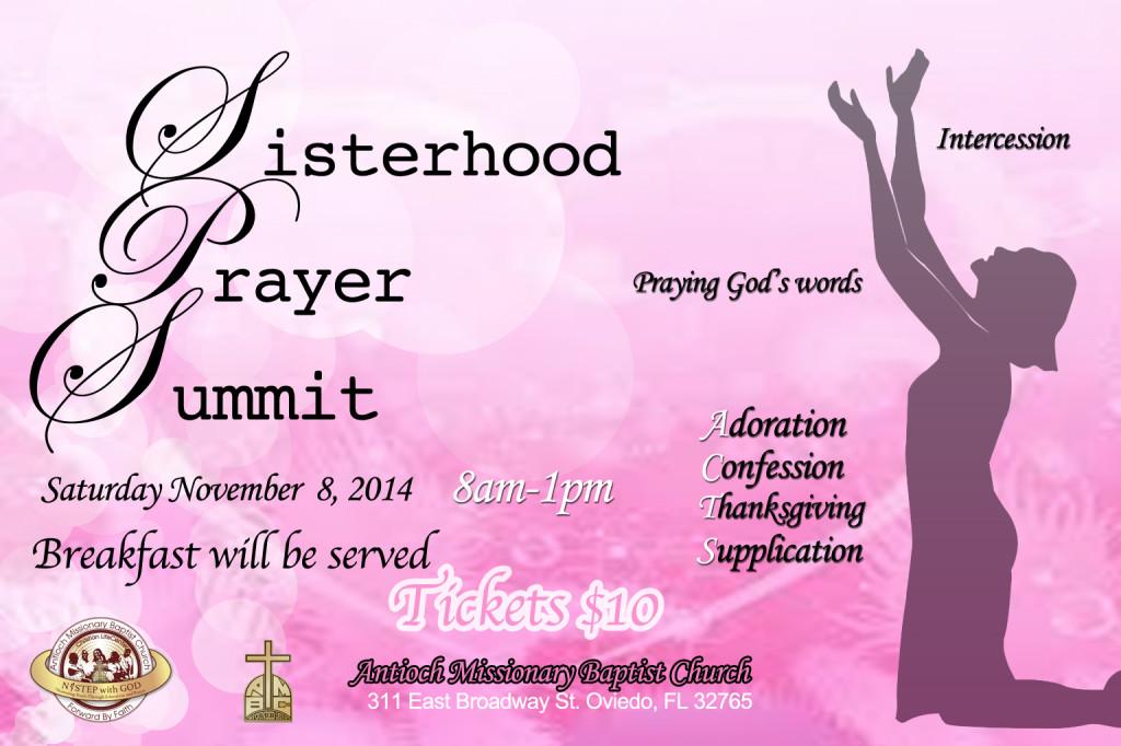 Sisterhood Prayer Summit 2014