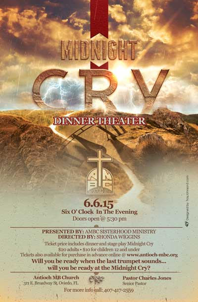 """Dinner Theater """"Midnight Cry"""" (June 6th)"""